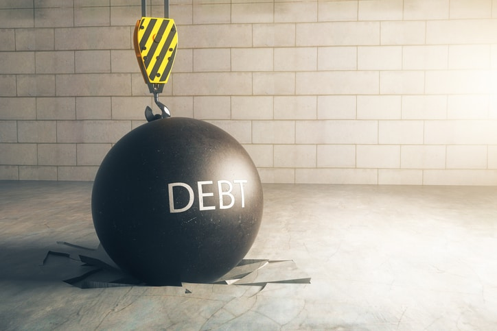 Debt weighing on people's minds