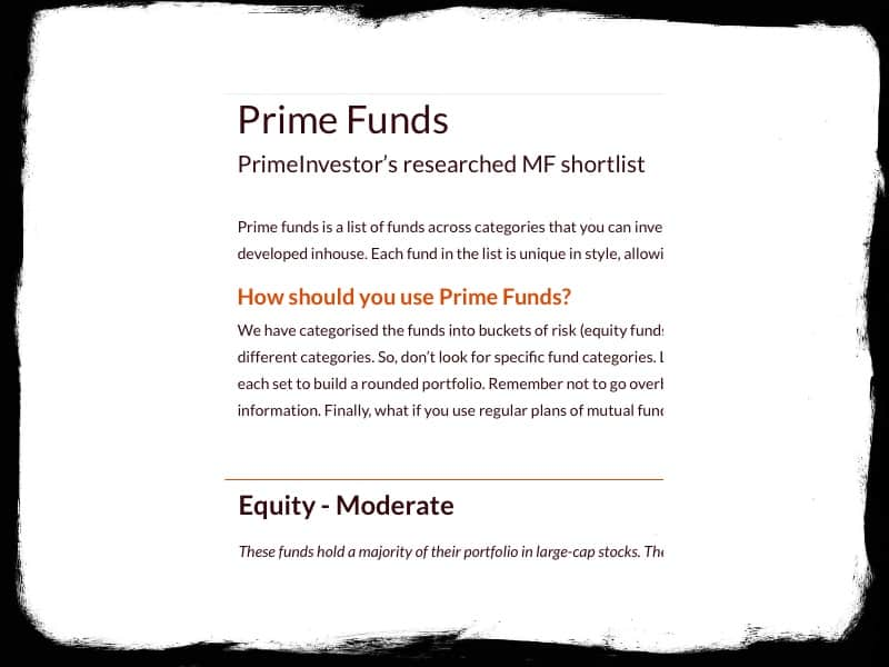 Prime funds